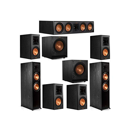 Why Choose Klipsch 7.2 System with 2 RP-8000F Floorstanding Speakers, 1 Klipsch RP-504C Center Speak...