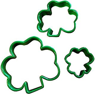 St. Patrick's Day Shamrock Plastic Cookie Cutters, 3 Ct.   Party Accessory