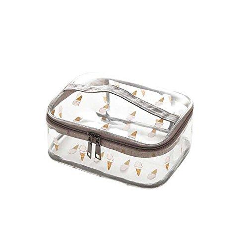 Sac cosmétique imperméable de sac de collection de sac de voyage de sac cosmétique (modèle de crème glacée)