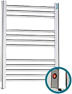 farho Secador de Toallas Electrico Nova Eco Little Cromado 250W · Radiador Toallero Electrico Bajo Consumo · Toalleros de Baño/Calentador Toallas con Termostato ON/Off (Medidas 700 x 500mm)