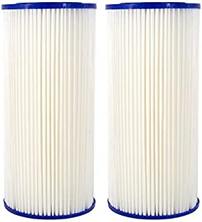 Compatible for HDX4PF4 Pleated High Flow Whole House Water Filter: Reduces Sediment - 30 Micron Water Filters 2 Pack