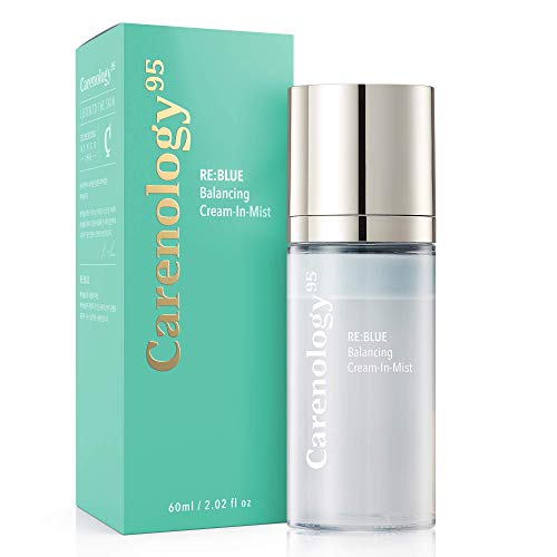 Carenology Triple Hyaluronic Acid Creamy Face Mist With Aloe Vera Extract and Blue Tansy Oil Skin Hydrating Facial Mist Spray Moisturizer Pore minimizer & Calming Natural Korean Skincare for All Skin Types Women Men