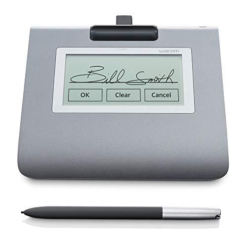 """Wacom Signature Set con Ampio Pad LCD STU-430 da 4,5"""" & Sign Pro PDF per Windows, Acquisizione in Tempo Reale di Firme Elettroniche Grafometriche con Penna senza Filo e Batterie"""