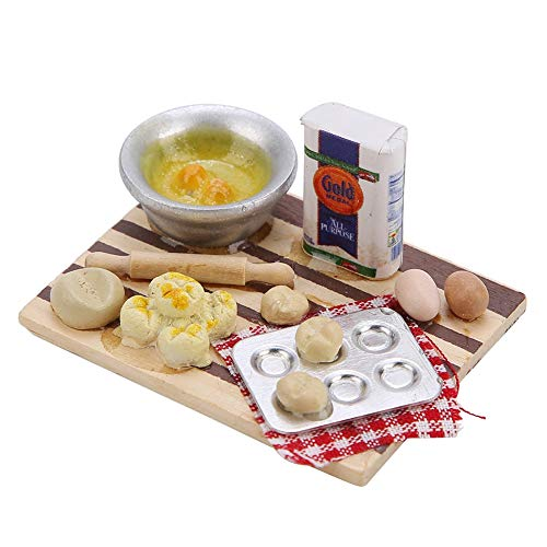 Liukouu Tablero de Comida en Miniatura de casa de muñecas, Tablero de...
