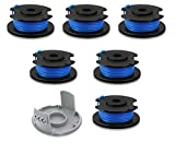 LEIMO 0.065 String Trimmer Spool Line for Ryobi One+ AC14RL3A, 0.065' Autofeed Replacement Spools for Ryobi 18V, 24V, and 40V Cordless Trimmers (7 Pack)