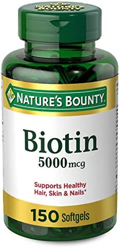 Nature's Bounty Biotin 5000 mcg, 150 Rapid Release Softgels