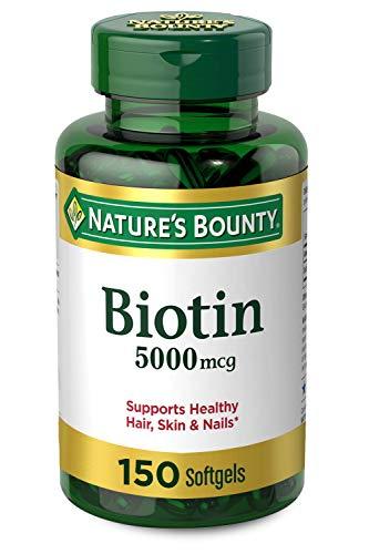 Nature's Bounty Biotin 5000 mcg, 150 Softgels Nature's Bounty
