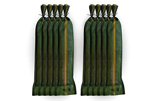 Silosandsäcke 25x100cm 10 Stück mit Griff und Zugband hochwertiges Monofilgewebe UV-beständig Silosäcke