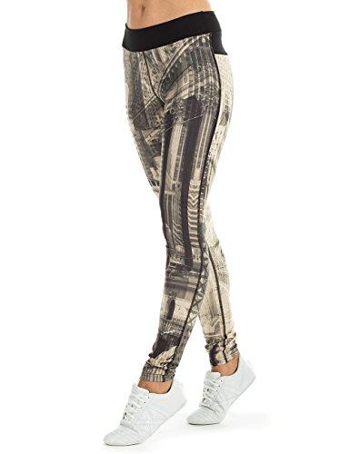 WINSHAPE Damen Functional Power Shape Tights Push-up PUL101, New York, Slim Style Leggings, XS