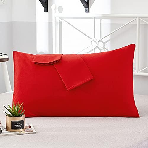 Funda de Almohada 100% algodón Funda de Almohada de Color sólido 66 * 66cm 50 * 75cm Funda de Almohada para Dormir Opcional Multicolor para Dormir da Hong, 48x150cm 2 Piezas