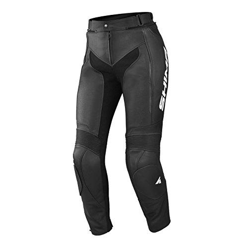 SHIMA MIURA TROUSERS BLACK, Damen Sport Lederhose Motorradbekleidung für Frauen (32-42, Schwarz) Größe 36