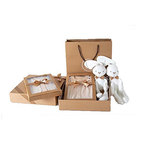 JUNBABY Boîte De Cadeau De Noël De Vêtements, Coffret Cadeau Naissance Anniversaire Nouveau-Né, Pur Coton, Style Princesse Naturel, Petit Monsieur-GirlA-L