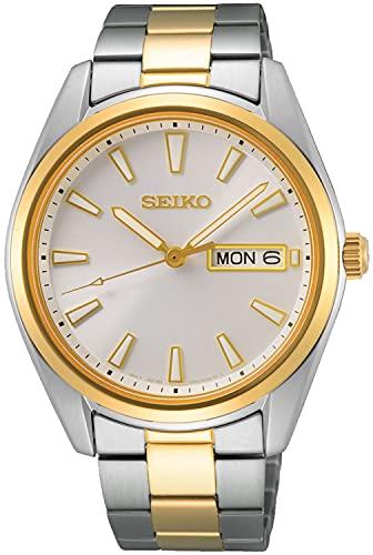 Seiko Reloj Analógico para Hombre de Cuarzo con Correa en Metal SUR446P1