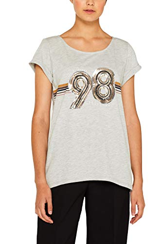 edc by Esprit 089cc1k068 Camiseta, Gris (Light Grey 5 044), X-Large para Mujer