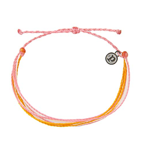 Pura Vida Jewelry Bracelets Bright Bracelet  100% Waterproof and Handmade w/Coated Charm Adjustable Band Sweet Valley