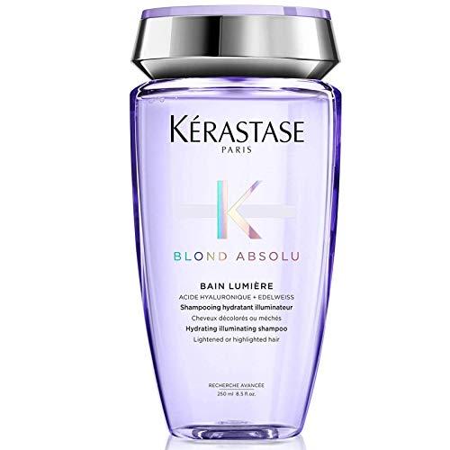 Kerastase Blond Absolu Bain Lumière - Shampooing hydratant illuminateur pour cheveux blonds décolorés ou méchés 250 ml