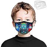 835 A-mo-ng U-s Polvere Proof Viso Poliestere Moda Decorazione Lavabile Riutilizzabile Wrap Nero Side 2PCS Filtri per Bambini A-mo-ng noi #3 Taglia Unica