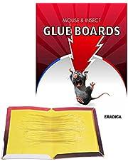 ERADICA™ - Muizenvallen met lijm 20 Grote maten lijmplaten 21 x 32 cm Kleefplaten tegen ratten, knaagdieren en andere ongedierte Niet-giftige lijm Handschoenen inbegrepen Kit Ratten Muizen stickers