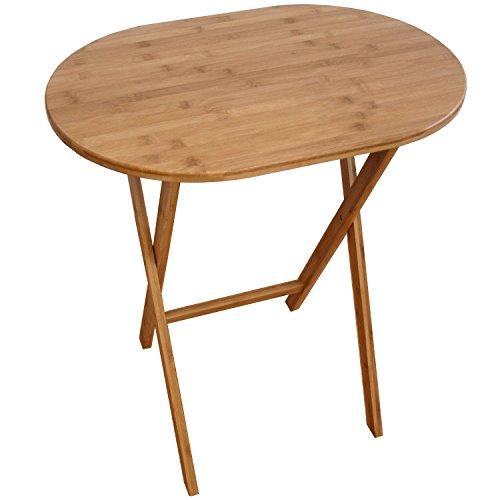 Tavolo Tavolino in bamboo pieghevole 59.5 x 41 x 66 cm versatile solido facile da trasportare