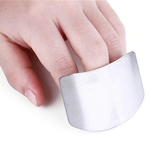 Protector de dedo, corte de corte de corte de acero inoxidable para cortar verduras, cocina segura
