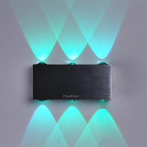 Finether-Lámpara de Pared Aplique LED Luz de Pared Iluminación de Múltiple Color, 18W con Control Remoto, para Sala, Dormitorio, Hotel, Restaurante, etc