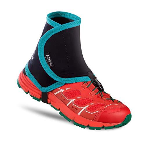 TRIWONDER Polainas Trail Running Transpirable Durable para Pierna Camping Montaña Senderismo Mujer (Verde y Negro - S/M)