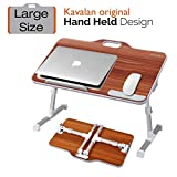 Laptop Desk Stand, Kavalan Portable Laptop Bed Tray Table with Top Handle, Height & Angle Adjustable...