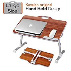 ✔ Multiple Uses: Easy portable laptop table to use on bed, couch/sofa, desktop and floor. Works as a standing laptop desk for office, bed/TV serving tray, couch/floor table or picnic desk outdoor ✔ Smart Design: Top opening handle design for easy car...