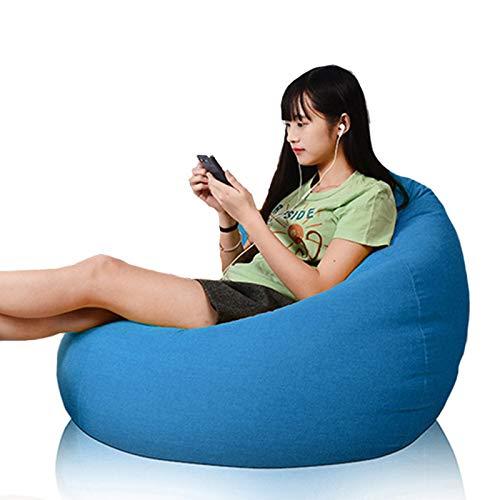 FBKPHSS Highback Sitzsackbezug, für Kinder und Erwachsene Sitzsack Soft Comfy Seat Lounger Schonbezug für die meisten Sitzsack Sofa Ohne Füllstoff,Sky Blue,23.6 * 27.5 in