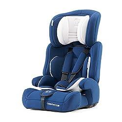 Kinderkraft Kinderautositz COMFORT UP, Autokindersitz, Autositz, Kindersitz, Gruppe 1/2/3 9-36kg, 3-Punkt-Sicherheitsgurt, Einstellbare Kopfstütze, ECE R44/04, Blau