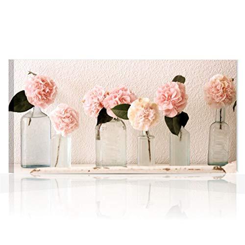 Quadri L&C ITALIA Quadri Moderni Stampa su Tela 90 x 45 Shabby Chic per  Soggiorno, Camera da Letto, Cucina, Salotto, Bagno con Fiori – Rose Vintage  1