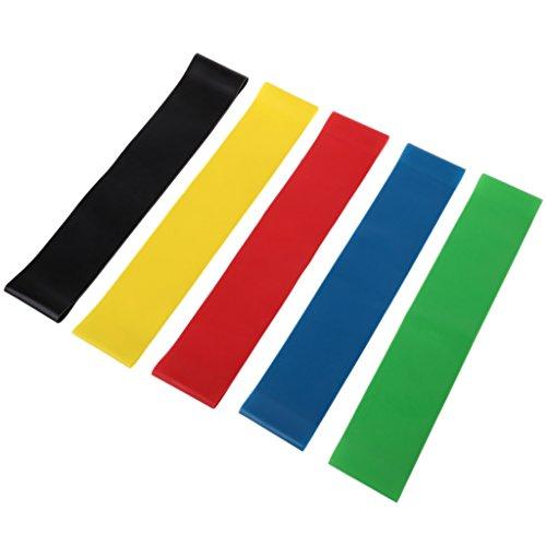 RG-FA Widerstandsbänder, 5 Ebenen, Latex, Fitnessstudio, Krafttraining, Gummischlaufen 2