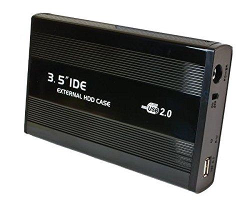 """Externe USB Festplattengehäuse aus Metall 3,5\"""" (8,9cm) USB 2.0 schwarz nur IDE"""