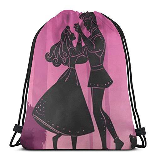 Bolsa clásica con cordón Bella Durmiente Gym Mochila Bolsas de hombro Deporte Bolsa de almacenamiento para hombre y mujer