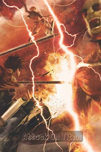 Attack on Titan 5 Notebook: manga Attack on Titan vol. 5 lined paper Attack on Titan vol. 1 to vol. 28 ( attaques des titans ) anime Eren Yeager Mikasa Ackerman