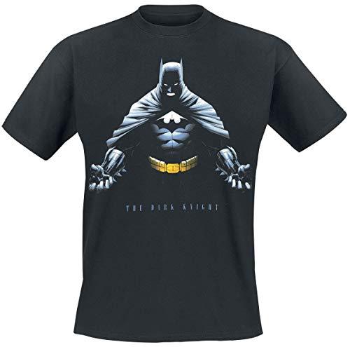 Batman The Dark Knight Männer T-Shirt schwarz L 100% Baumwolle DC Comics, Fan-Merch, Film, Superhelden