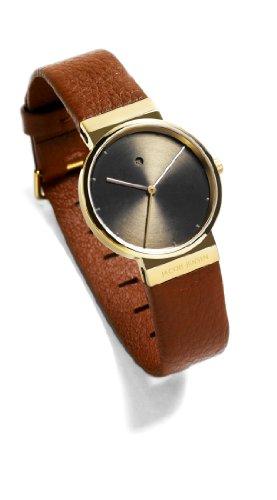 Jacob Jensen Damen Analog Quarz Uhr mit Leder Armband 854