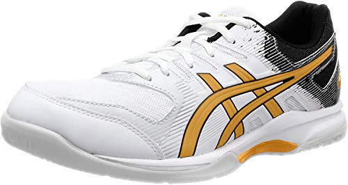 ASICS Herren Gel-Rocket 9 Volleyball Shoe, White/Pure Gold, 47 EU