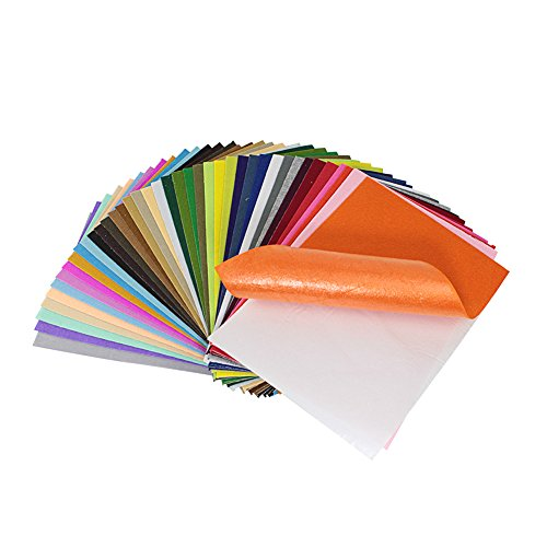 Life Glow Sticky Stiff Adhesive Backed Felt Sheets Assorted Colors 8x12 inch for Crafts A4 Size, 1mm Thick 40Pcs