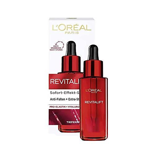 L\'Oréal Paris Hyaluron Sofort Effekt Serum, Tiefenwirksame Anti-Aging Gesichtspflege zur Minderung von Falten, Mit Hyaluronsäure und Pro-Elastin, Revitalift, 1 x 30 ml