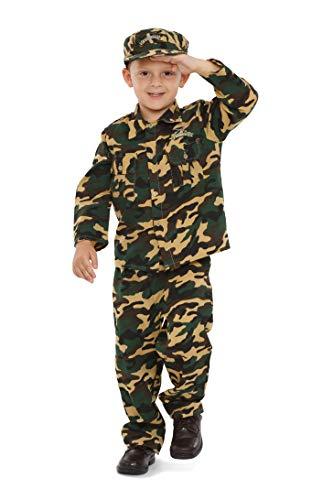 Dress Up America Costume de soldat de luxe pour enfants, 202-M, Camoflauge, 8-10 ans (Taille 30-32, Hauteur 45-50 Pouces)