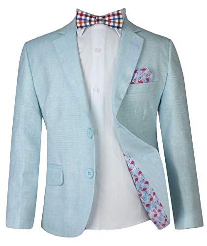 Jungen Leinen Freizeit Anzüge Seite Junge Kinder Sommer Outfit Junge formelle Anzug Multi Farben Leinen - 2 Teile neuwertig grüner Anzug, 12 Years