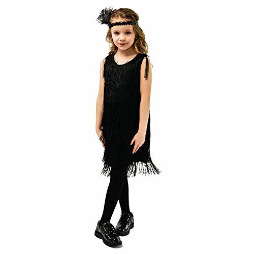 Kids Girl's Fashion Flapper Satin D…