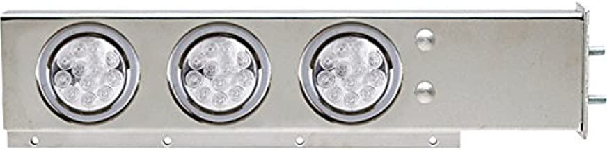 TRUX Accessories Flat Top Semi-Truck Mud Flap Hanger Light Bars with Clear LEDs - Pair, Model Number TU-9210LC