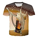 T-Shirt - Camiseta de Manga Corta Hecha de algodón,Calle de impresión 3D creativa-PSY1843_T_Metro