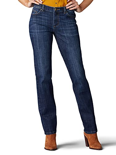 Lee Women's Relaxed Fit Straight Leg Jean, Bewitched, 10 Short