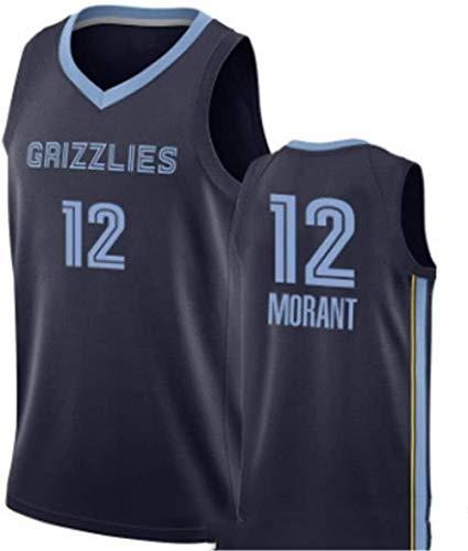 ZSPSHOP Maillot de baloncesto Memphis Grizzlies No.12 Ja Morant, tejido de jersey vintage (color: E, tamaño: pequeño)