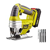 <span class='highlight'><span class='highlight'>DEWINNER</span></span> Cordless Jigsaw Saw Tool with 2.0Ah Li-ion 20V MAX Battery, Charger,5*Blades - Includes 3 Stage Pendulum Action, Tool-Less Blade Change & Dust Extractor Port