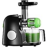 Licuadora Prensado en Frio, Licuadora Frutas Verduras, Extractor de zumos con Función inversa, Motor Silencioso, Limpieza Fácil con Cepillo, Alto en Nutrientes para Zumo de Frutas y Verduras