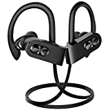 Mpow FLAME2 Bluetooth Headphones Sport, 12Hrs & Bluetooth 5.0 Wireless Sport Earphones, IPX7 Waterproof Running Headphones W/Cvc 6.0 Noise Cancelling Mic, Bluetooth Earphones w/Comfort-Slanting, Black